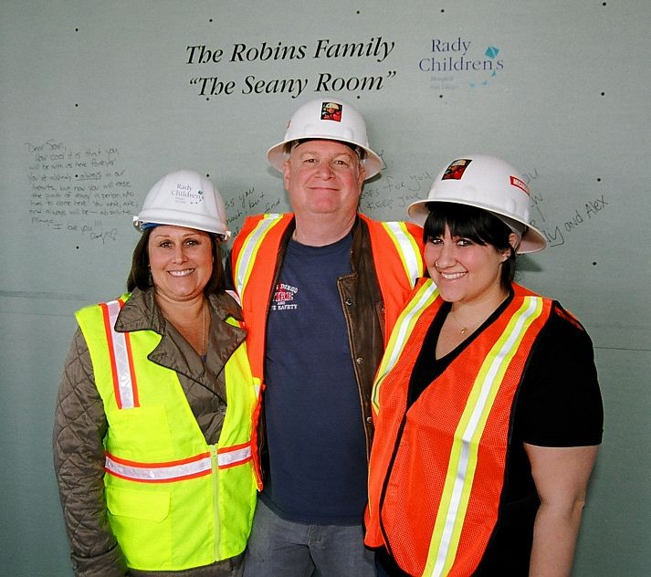 Robins Family at RCHSD site of the Seany Teen Room