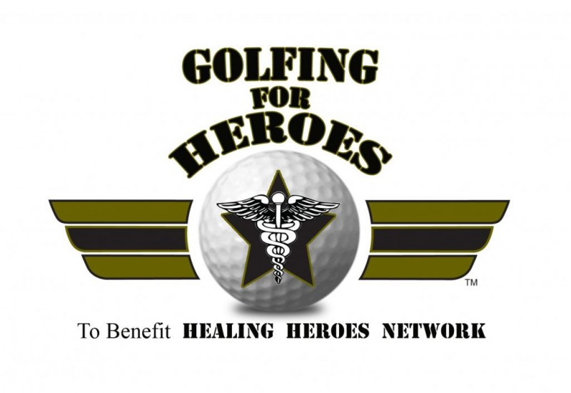 HHN's annual Golfing For Heroes charity golf tournament logo