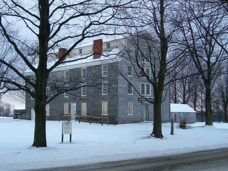 Old Stone House Museum in Winter