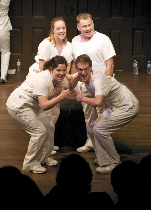 NIS professional company of actors presenting NORMAL, 2009