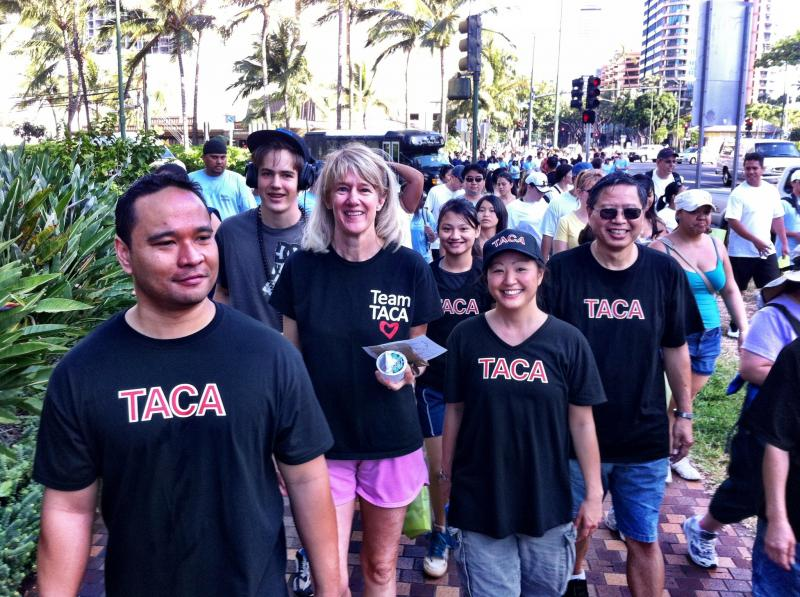 TACA walks - raising funds & awareness