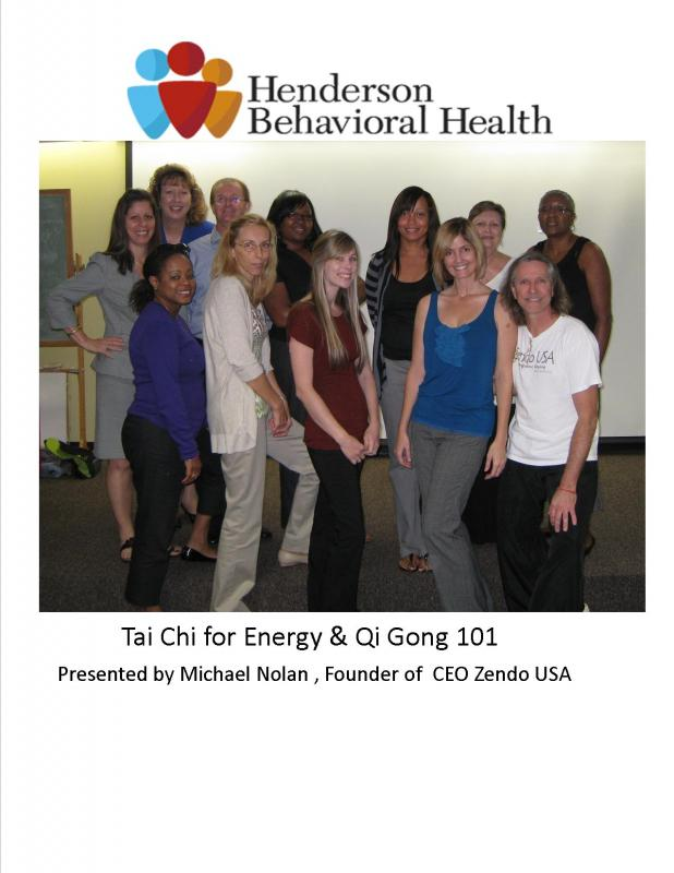 Henderson Behavioral Health Tai Chi day