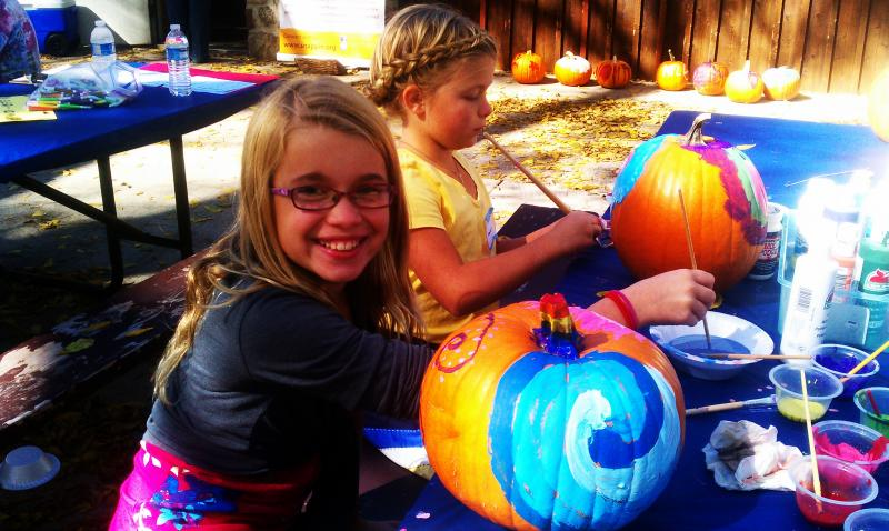 Pumpkin painting at our Awesome Autumn Outing 2012