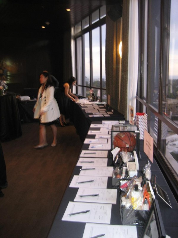 Our first silent auction fundraiser