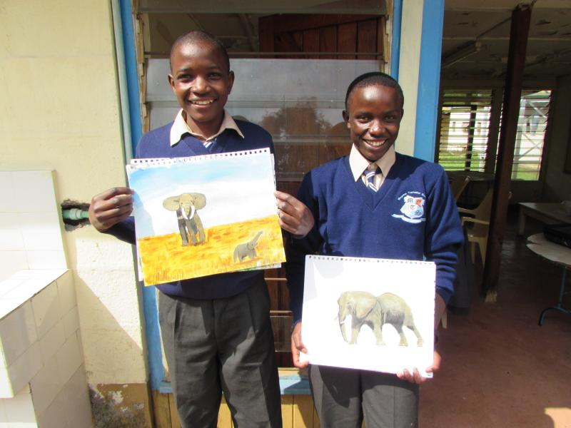 How to Draw a Lion Project with volunteer John Platt
