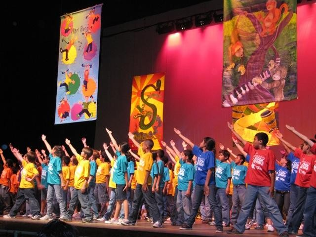 380 Fourth Graders on stage at the Plaza Theatre - total audience participation 6000
