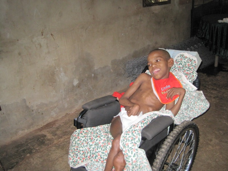 Orlando received his first wheelchair at the age of 12