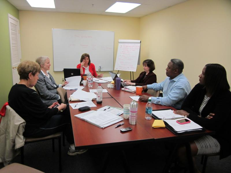 The dedicated Volunteer board of PEC at a March 2012 meeting