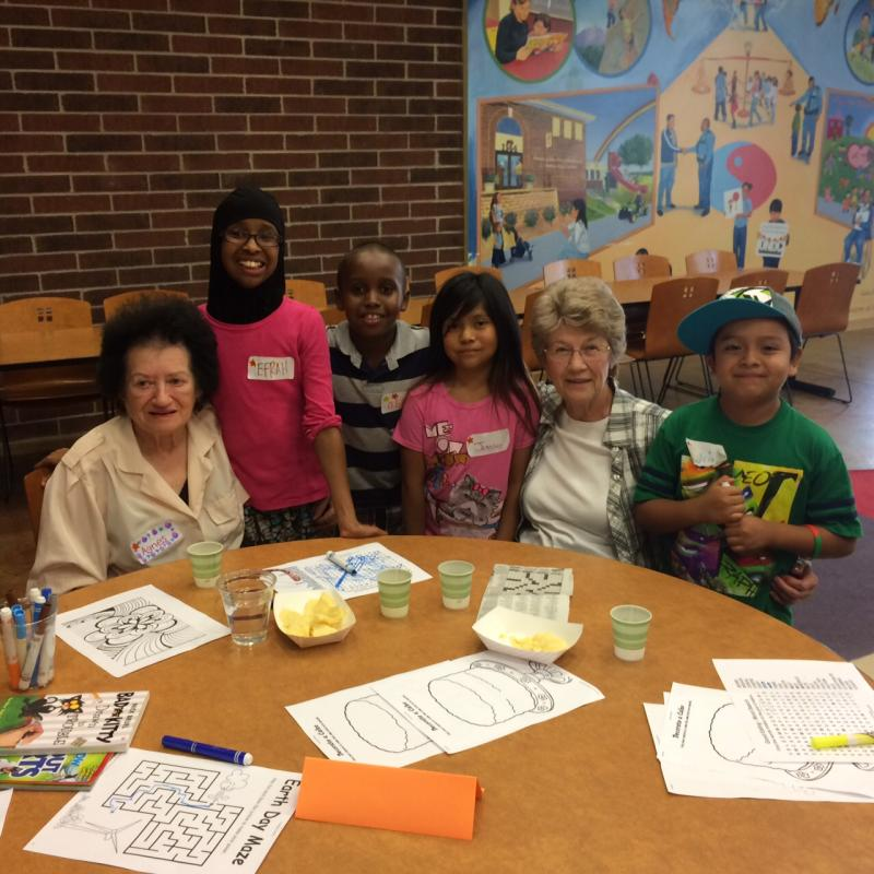 Intergenerational events at Ames Lake Neighborhood bring youth and seniors together.