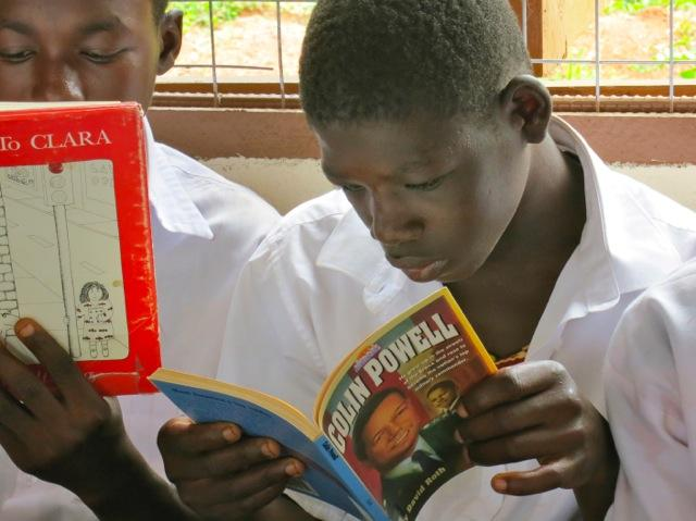 Reading biographies of inspiring people help shape the dreams of tomorrow's African leaders.