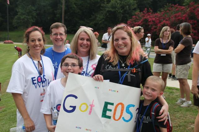 Families participate in EOS Walk to raise funds for research of eosinophil associated disorders.