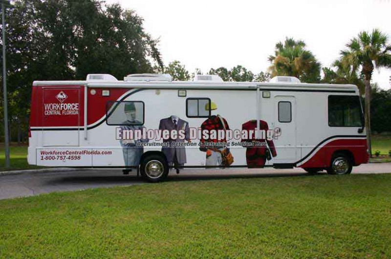 The WCF Mobile Unit is a transportable classroom on wheels for screening, testing & training.