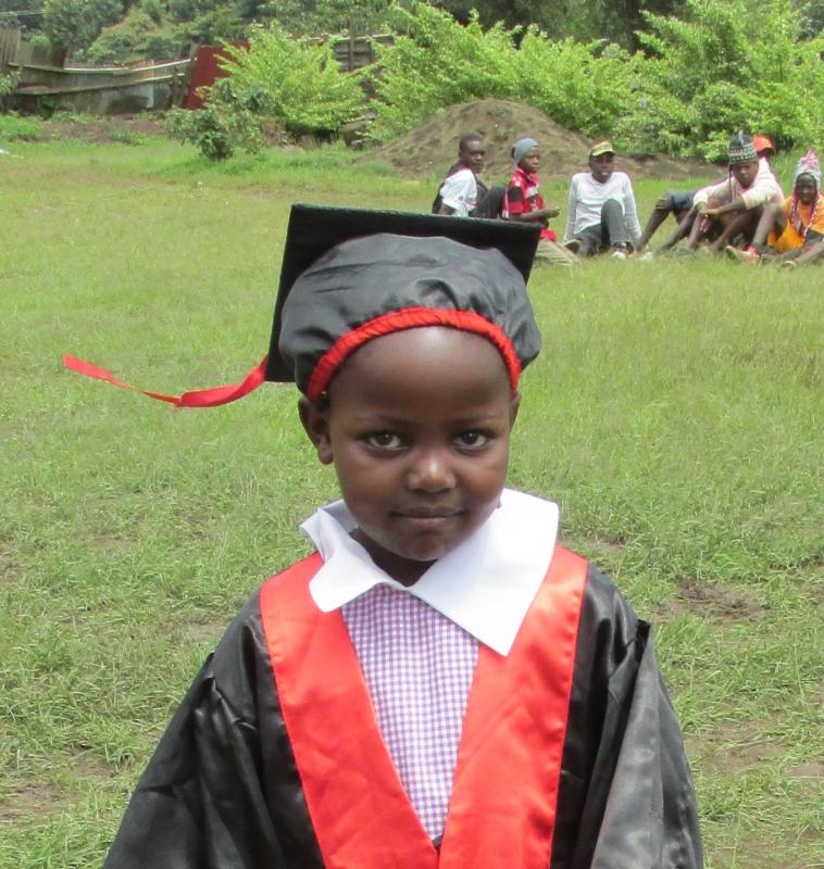 Little Wangare Julai graduating from Pre-Unit and ready for 1st grade Jan. 2016.
