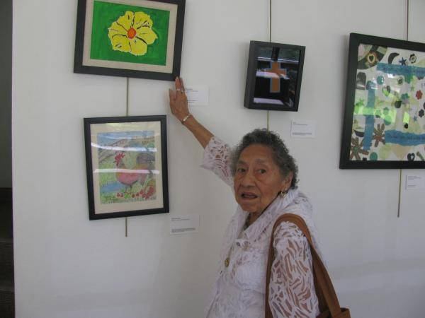 90-year old shows off work at exhibit