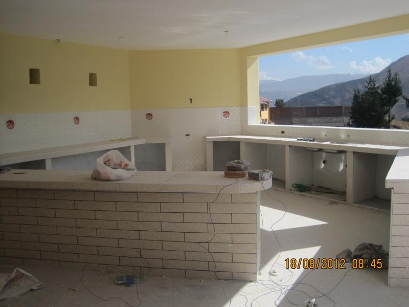 The new kitchen and dining area