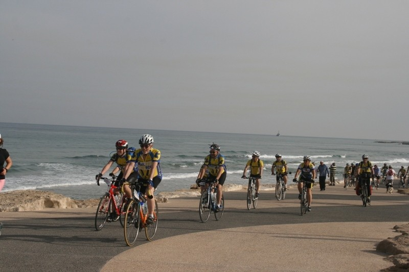 Israel Riders enjoy the view of the sea