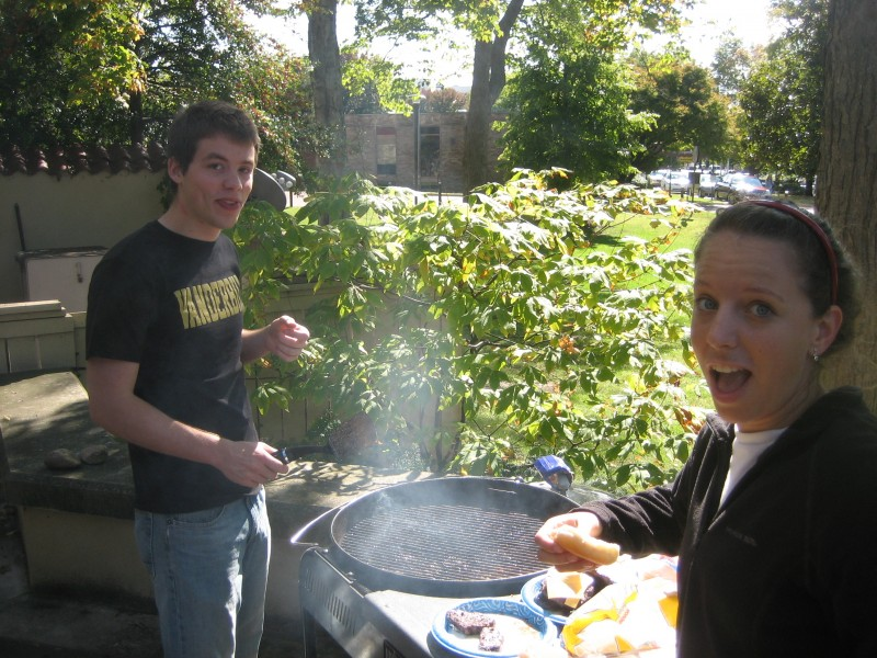 Joe and Reba grilling up a storm