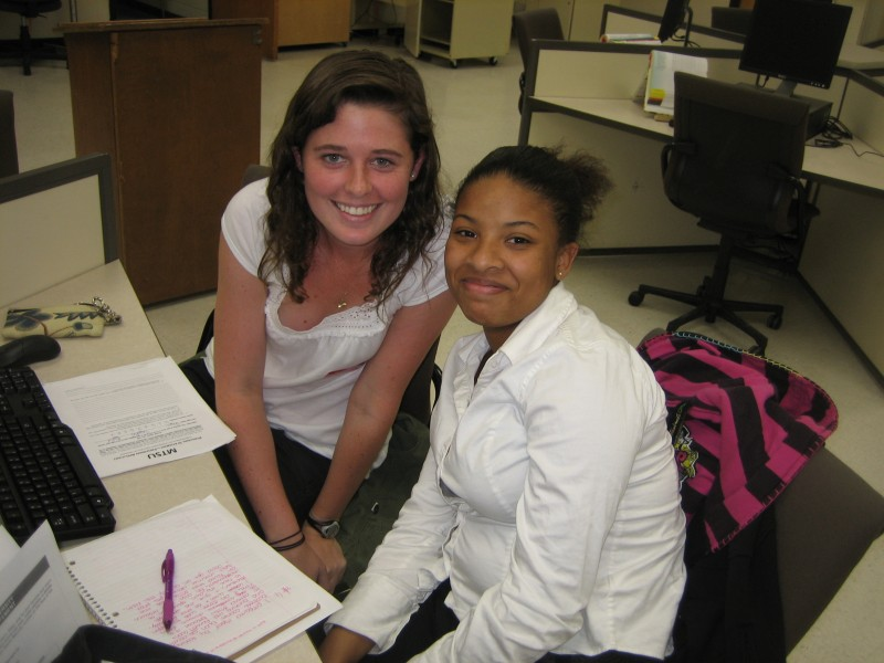 Kate and Selekia at our second College Application Workshop after being demanded back by students