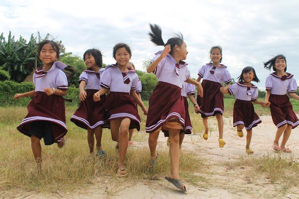 Vietnam - These children recieved school uniforms from a Thriive business.