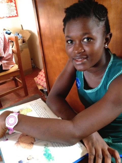 17 year old Martha of Sierra Leone just won a reading contest at her new library.  Her favorite book,