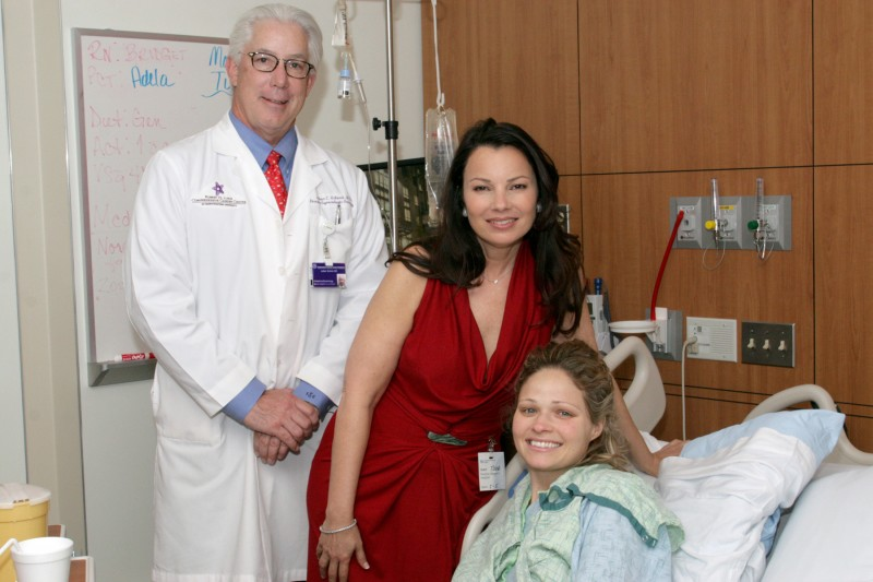 Fran Drescher at Northwestern Memorial Hospital in Chicago, IL (Photo by NMH)