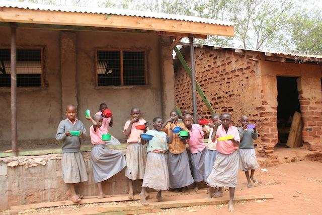 School feeding program at Sasenyi Primary
