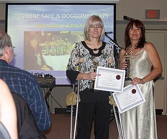 Joan and Teresa (Doggone Safe founders) win IPDTA award for their work with Doggone Safe