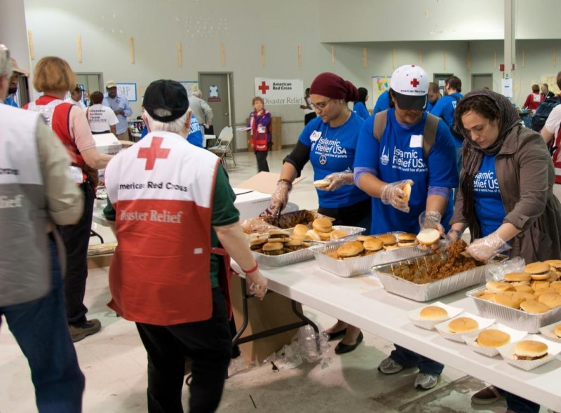 IRUSA Volunteers Help in Alabama at a Red Cross Shelter