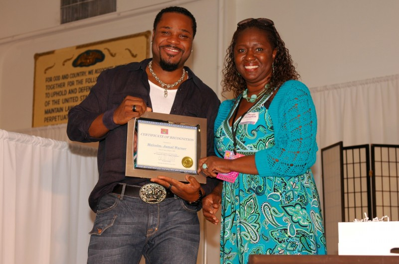 President, Thema Campbell & Malcolm Jamal Warner, 2009 guest speaker at GP's