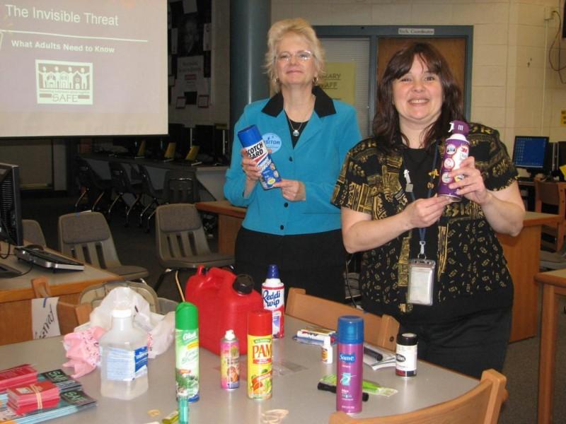 Inhalant training for school staff