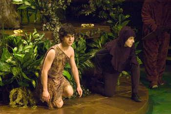 Mowgli & Bagheera in The Jungle Book