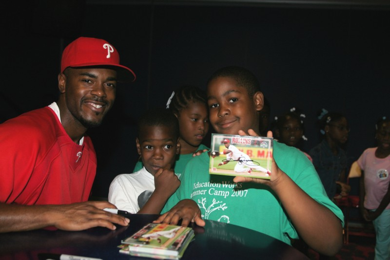 Phillies shortstop Jimmy Rollins hosts our kids