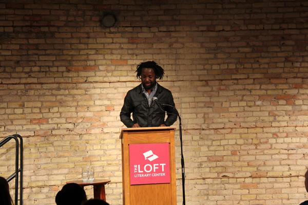 Author Marlon James reading as part of the Mentor Series