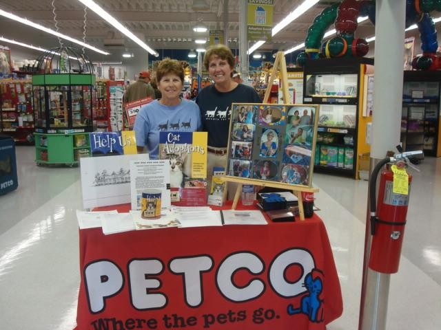 Jean and Anne at Petco public awareness
