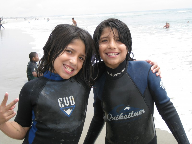 Joselyn and Judith on our Surfing Field Trip