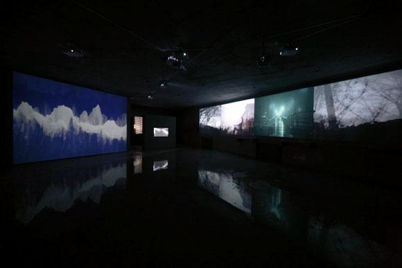 Time and Place Exhibition, Installation view of Ange Leccia