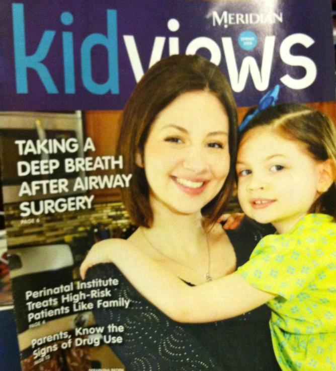 CWL Founder & President Stephanie Hueston with her Pint-Sized Powerhouse Seraphina on the cover of Meridian KidViews Magazine. (spring 2014)
