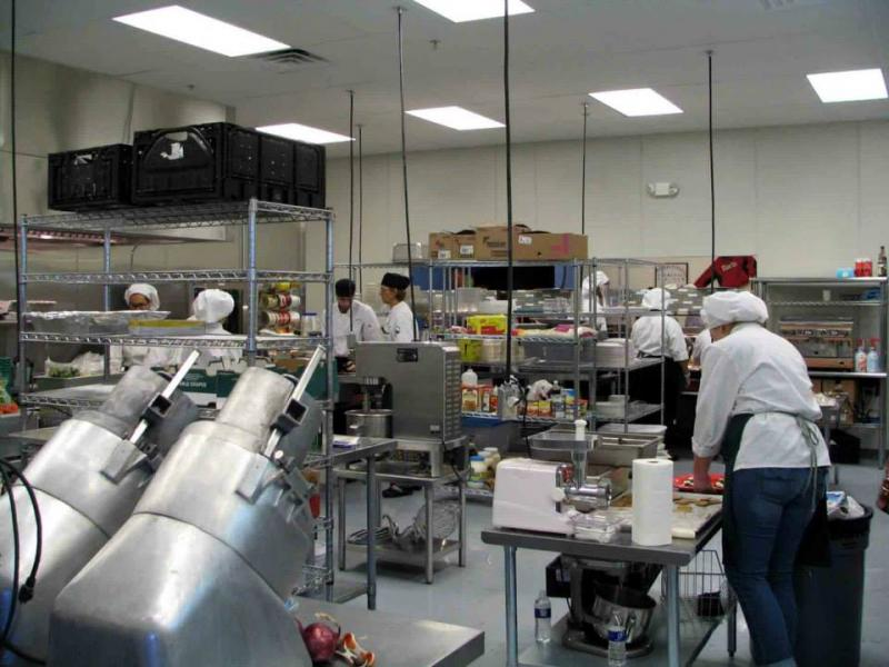 commercial kitchen feeds thousands