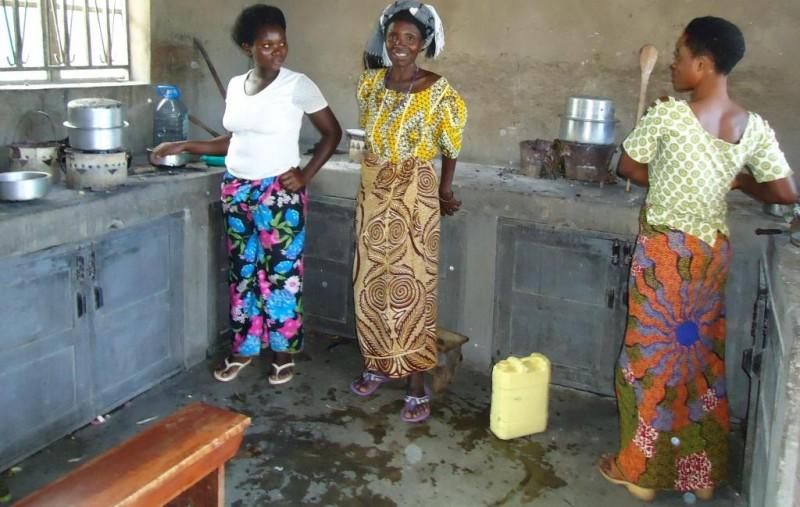 Kagando Kitchen before Rocket Stoves