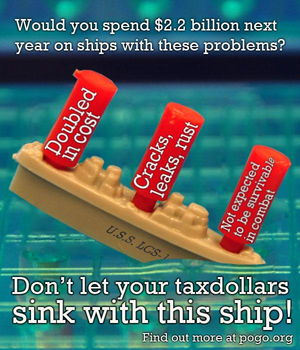 Don't let your Taxpayer Dollars Sink with this Ship!