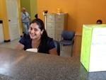 Our wonderful receptionist, Leticia.