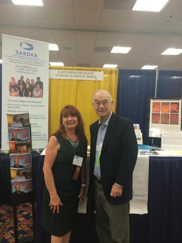 Executive Director Linda Stalters presenting at the NAMI Annual Conference (with Dr Fred Frese)