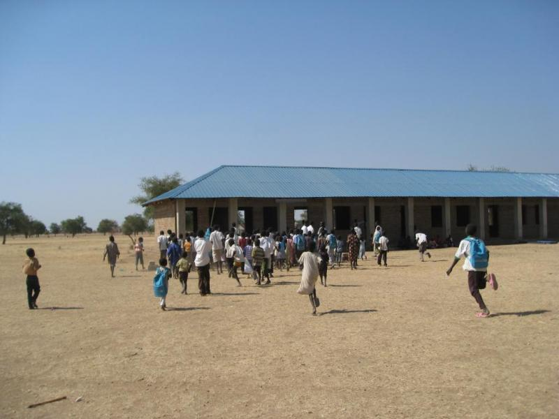 MAC built the first permanent school in Nyarweng South Sudan