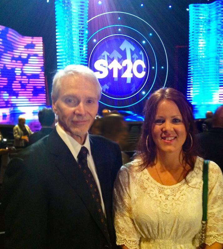 OCF's Director of Operations Jamie O'Day and Brian Hill, at the Stand up to Cancer Show Los Angeles