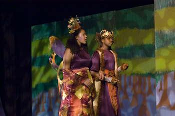 Titania and Oberon in A Midsummer Night's Dream
