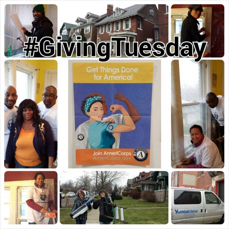 To celebrate Giving Tuesday, Young Detroit Builders, CLEARCorps/Detroit and Bank of America partnered to weatherize 20 homes in Detroit's North End Neighborhood. Thank you to all of the volunteers and organizations who made this project possible.