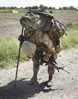 145 lb Marine carrying 120 lb load....FOR ME!!