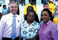 Task Force Executive Director Matt Foreman, Mandy Carter of Southerners on New Ground, and Coretta S