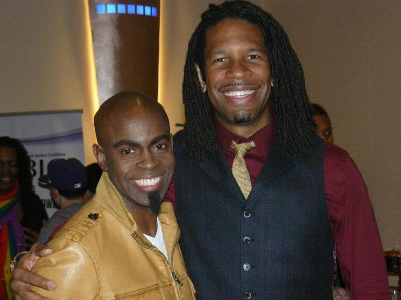 GLO TV Founder/President Maurice Jamal and CNN/ESPN Commentator LZ Granderson (CC2012)