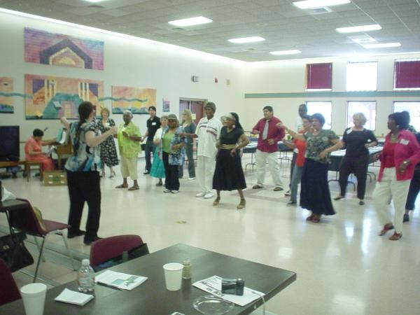 dance during art reception